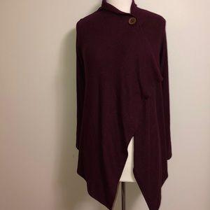 Mauve Soft long sleeve wrap cardigan